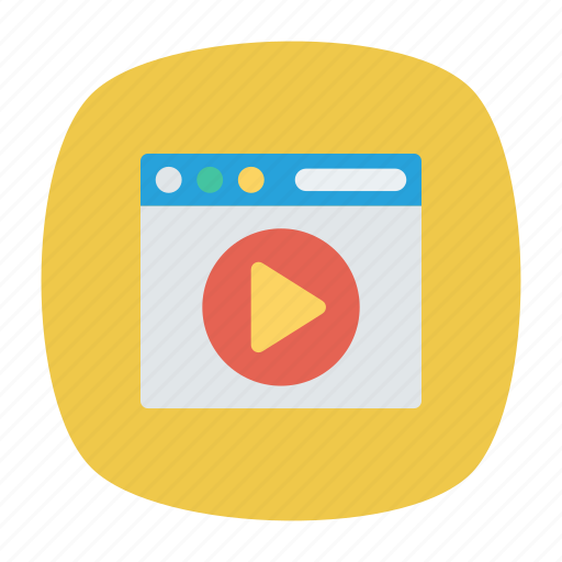 browser, play, video, webpage icon