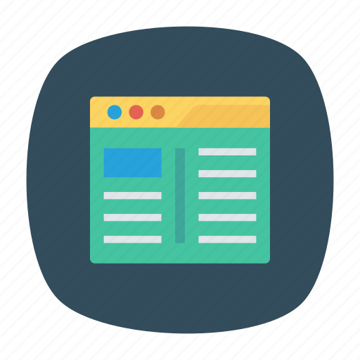 internet, online, website, window icon