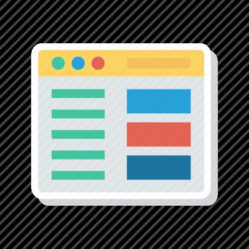 browser, internet, online, webpage icon