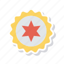 award, medal, star, sticker icon