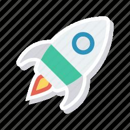 boost, rocket, spaceship, speedup icon