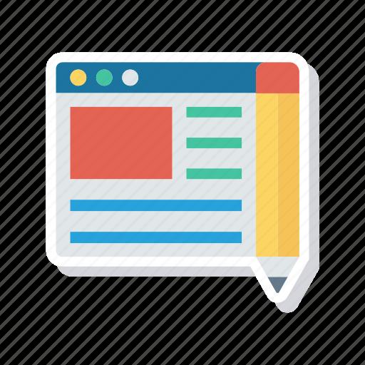 browser, edit, internet, webpage icon