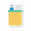 design, draw, jar, pencil icon