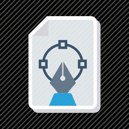 design, document, file, illustration icon