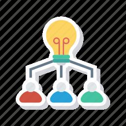 business, creativity, group, idea icon
