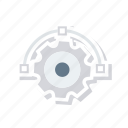 design, gear, illustration, setting icon
