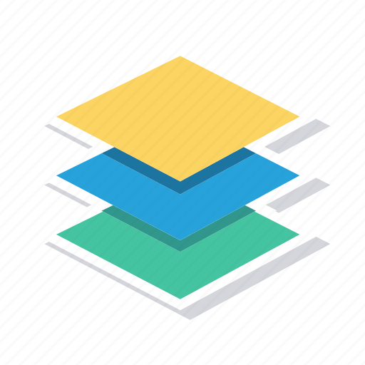 layers, pages, slides, stack icon