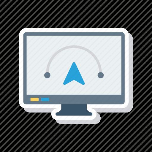 display, illustration, lcd, screen icon