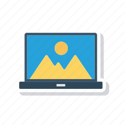 device, laptop, photo, picture icon