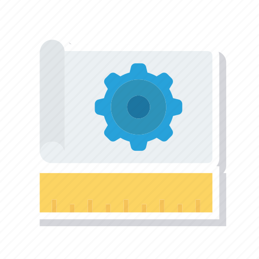 document, page, ruler, setting icon