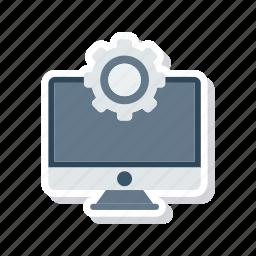 display, gear, screen, setting icon