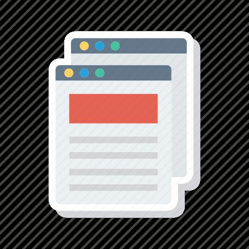 browser, internet, webpage, website icon