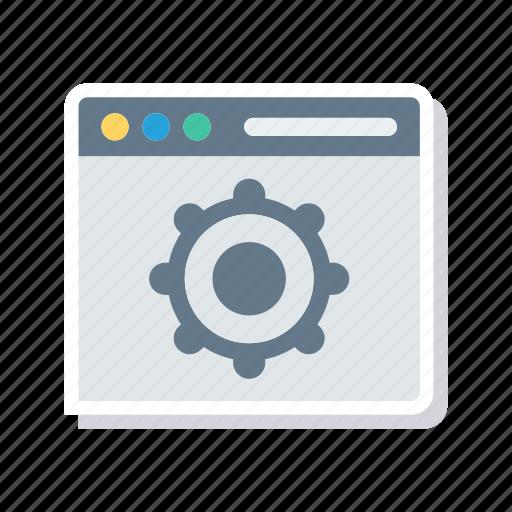 configuration, internet, setting, webpage icon