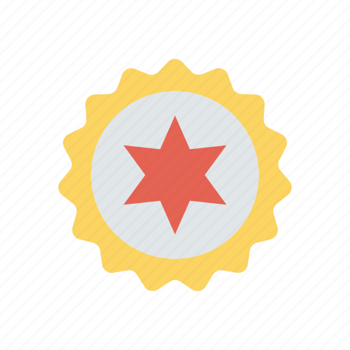 award, medal, star, sticker icon