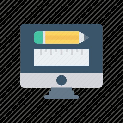 design, display, drawing, ruler icon