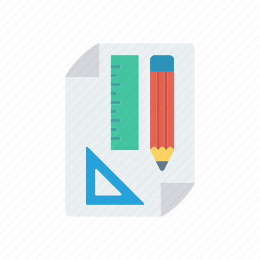 drawing, page, ruler, sketch icon