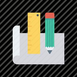 drawing, ruler, sheet, sketch icon