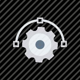 design, gear, illustration, setting icon