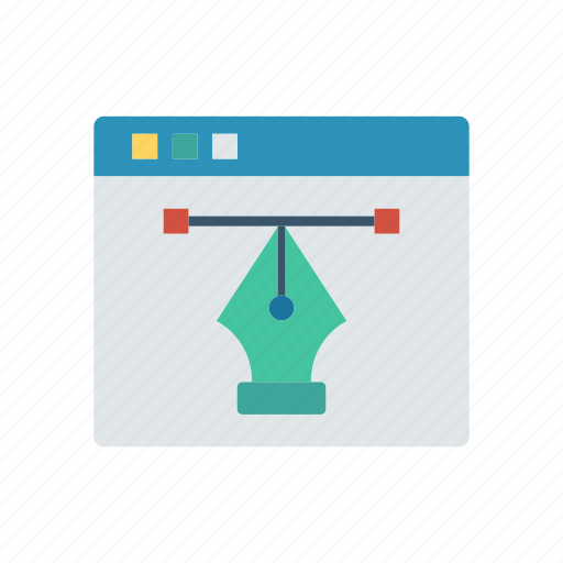 design, illustration, online, webpage icon