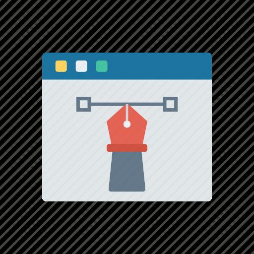 browser, illustration, internet, webpage icon