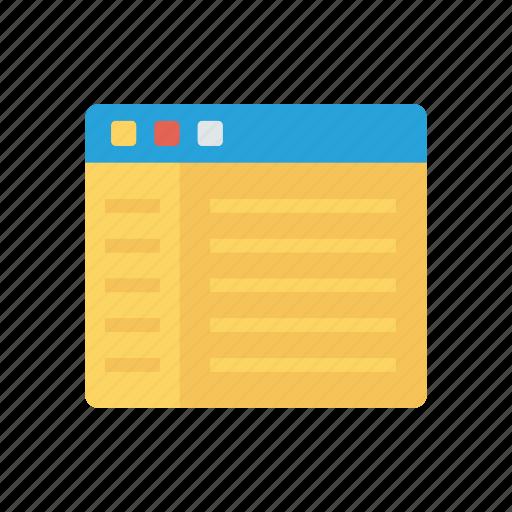 internet, online, webpage, window icon