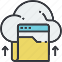 archive, cloud, data, document, file, folder, shared icon