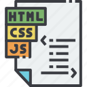 css, development, end, file, front, html icon