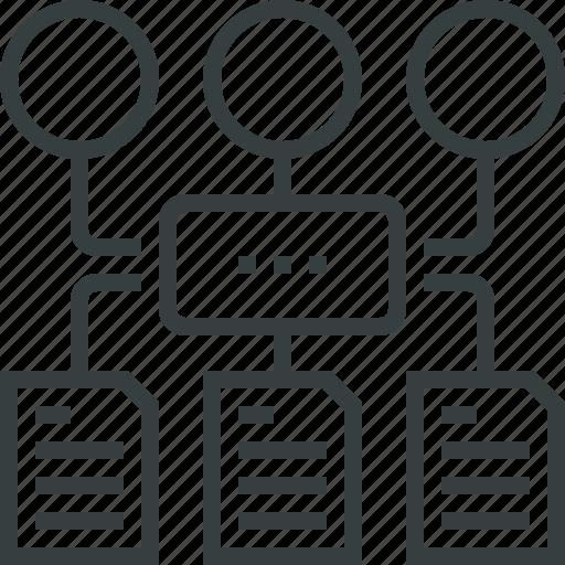 algorithm, chart, organization, program, schema, software, structure, workflow icon