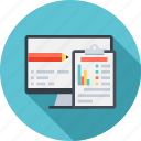 analysis, analytics, assignment, clipboard, testing, usability icon