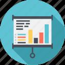 analytics, bar, chart, flip, graph, lecture, presentation icon
