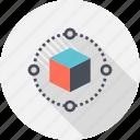 cube, design, development, digital, graphic, modeling icon