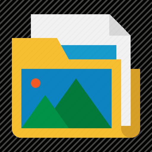 album, folder, gallery, image, picture icon