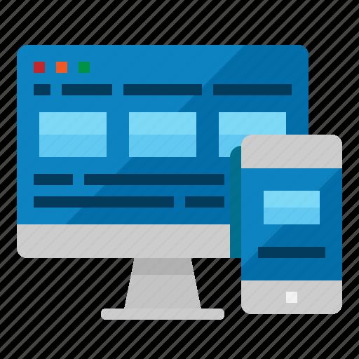 design, development, responsive, site, web icon