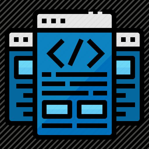 browser, design, development, site, web icon