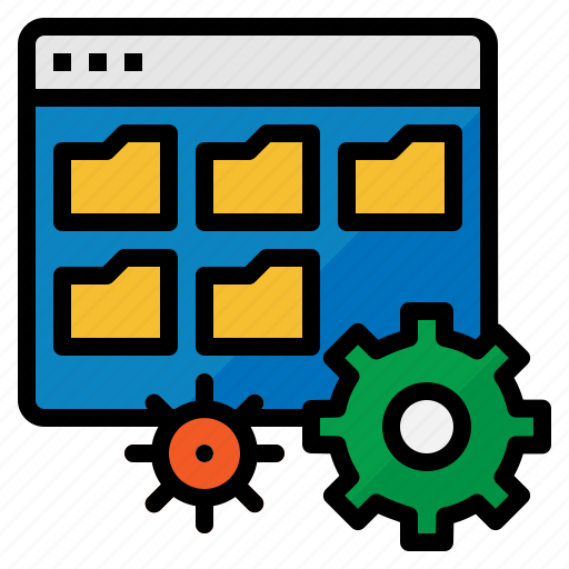 data, folder, management, setting, structure icon
