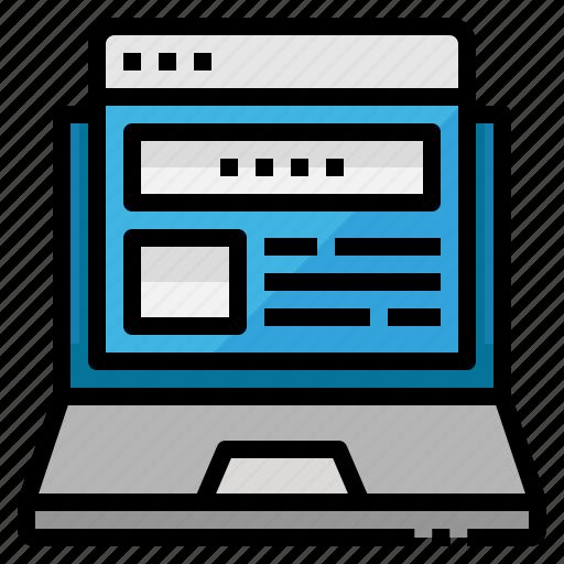 html, laptop, page, site, web icon