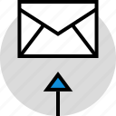 development, email, envelope, onilne, technology, web icon