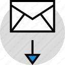 development, download, mail, onilne, technology, web icon