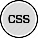 cascading, development, onilne, sheet, style, technology, web icon