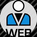 development, onilne, person, persona, technology, user, web icon