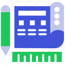 certificate, design, document, extension, note, report, tools icon