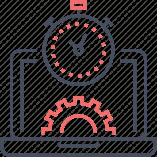 coding, development, management, settings, time, web icon