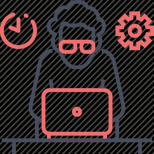 coder, developer, management, programming, time, web, working icon