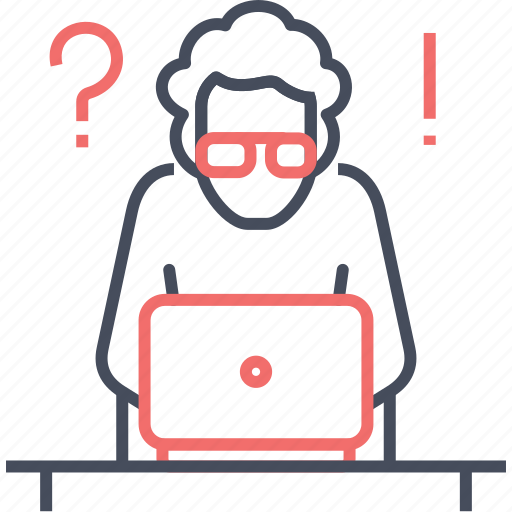 answer, development, help, question, solution, thinking, work icon