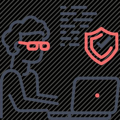 code, coder, developer, secure, web development icon