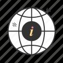 globe, information, search icon