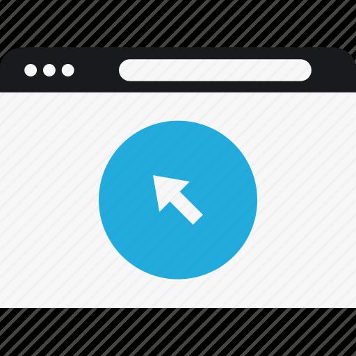 arrow, circle, click, language, program icon
