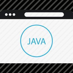 circle, java, language, program icon