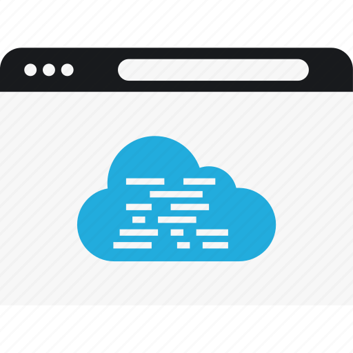 cloud, code, language, program icon
