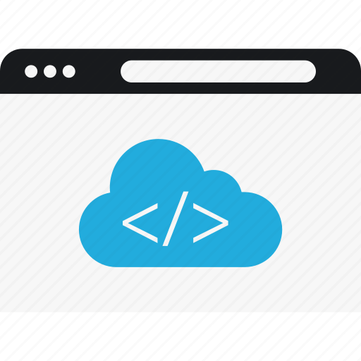 cloud, code, internet, language, program icon